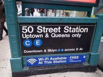 Entrée Station de Métro New York