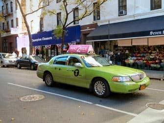 Taxi vert citron New York