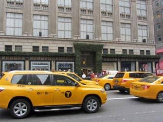 Taxis jaunes dans les rues de New York