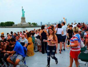 4 juillet à New York - Croisière feux d'artifice