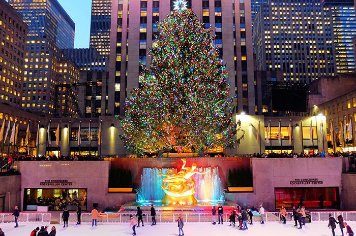Ambiance de Noël à New York - Rockefeller Christmas Tree