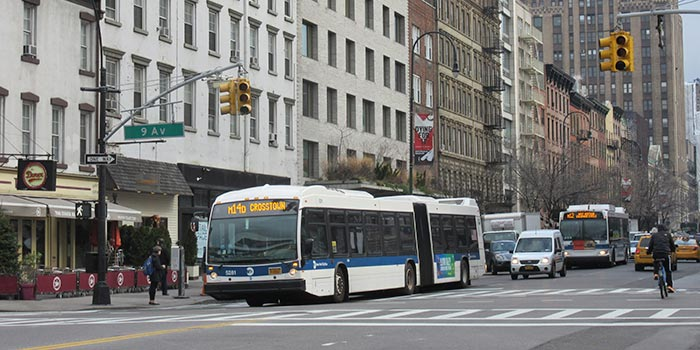 Bus à New York - Bus à la 9th Avenue