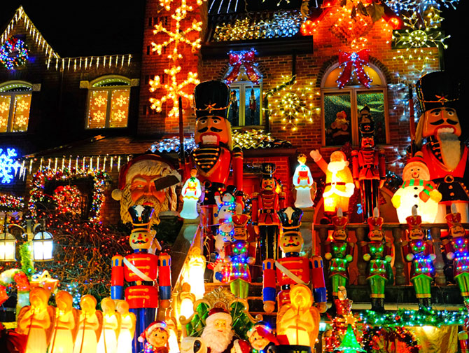 Ambiance de Noël à New York - Dyker Heights