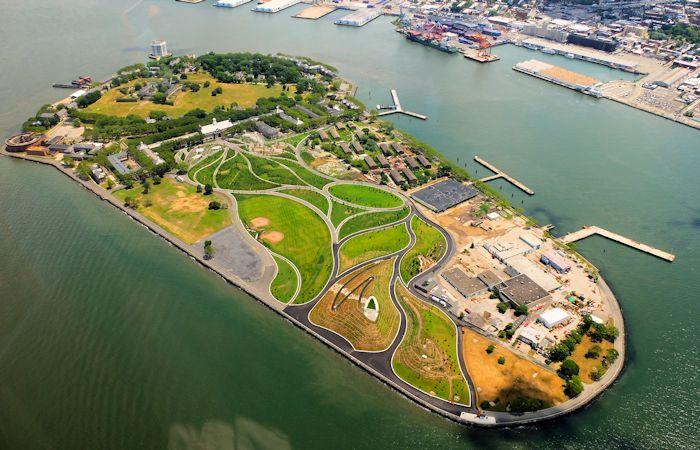 Governors Island New York - vue aérienne