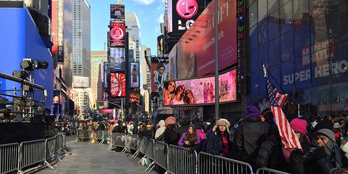 La Saint-Sylvestre à New York- Times Square
