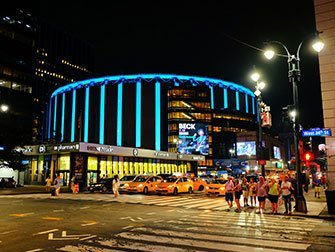 Madison Square Garden à New York - Extérieur