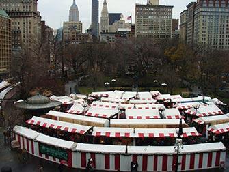Marchés à New York- Marché de Noël à Union Square