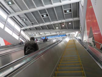 PATH à New York - Escalateur