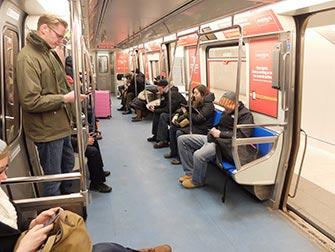 PATH à New York - Intérieur du train