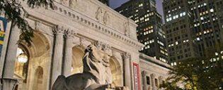 Bibliothèque Publique New York le Soir