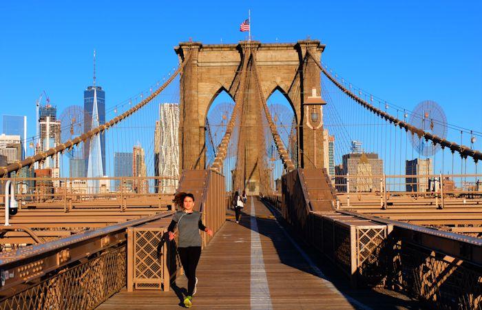 Brooklyn Bridge à New York - Marche