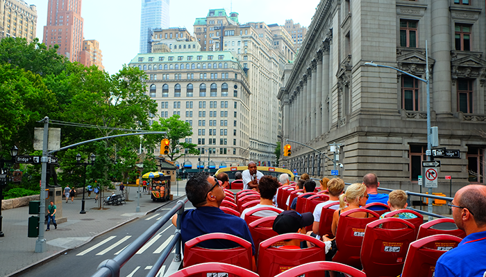 Bus touristique à New York - Visite