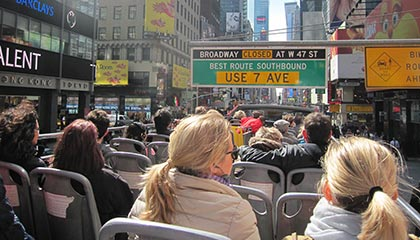 Bus touristique a New York - bus a arrets multiples