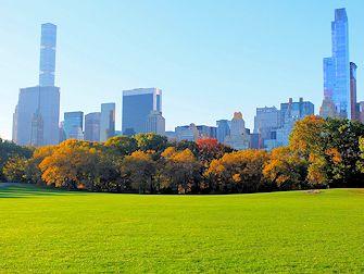 Central Park à New York - Sheep Meadow en automne