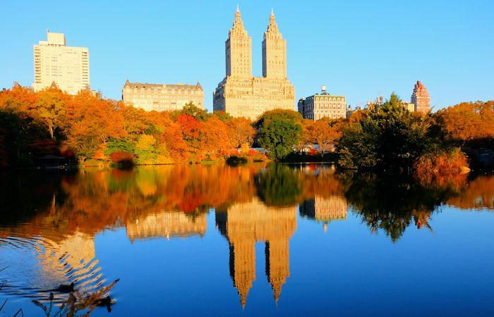 Central Park à New York - couleurs automnales