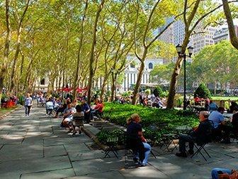 Les parcs à New York - Terrasse du Bryant Park