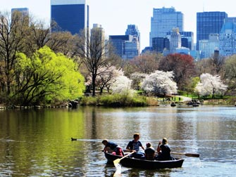 Parcs à New York - barques dans Central Park