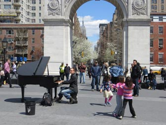 Parcs à New York - Musique en direct dans Washington Square Park