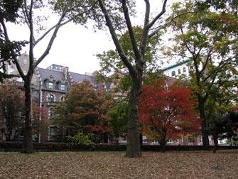Parcs à New York - Riverside Drive depuis Riverside Park
