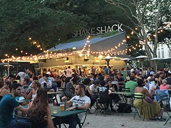 Parcs à New York - Shake Shack dans Madison Square Park
