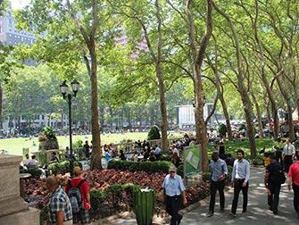 Parcs à New York - Bryant Park en été