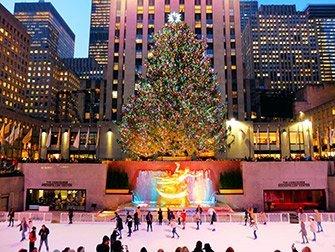 Rockefeller Center in New York - patinoire
