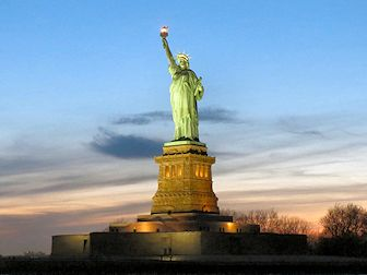 Statue de la Liberté - Coucher de soleil