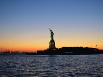 Statue de la Liberté - Coucher du soleil
