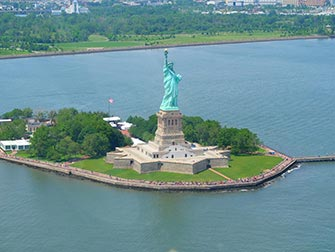 Statue de la Liberté - Vue du ciel