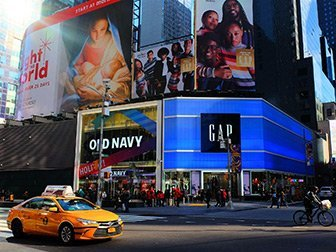 Times Square à New York - Old Navy & Gap