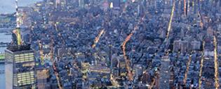 Vol de nuit en hélicoptère et croisière touristique à New York