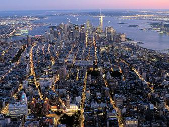 Vol de nuit en hélicoptère et croisière touristique à New York - Downtown