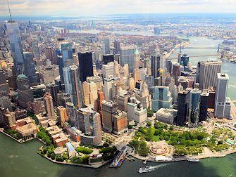 Vol en hélicoptère à New York Itinéraires -Skyline de Manhattan