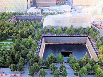 9/11 mémorial à New York - Devant