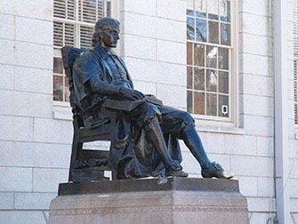 Excursion à Boston - Statue John Harvard
