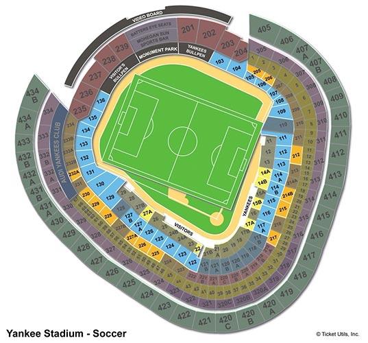 New York City FC - Yankee Stadium Plan du Stade