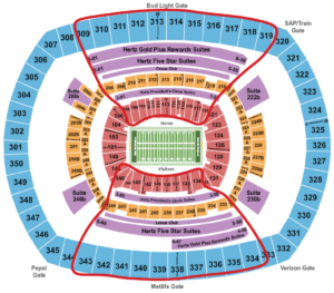 New York Giants Tickets - Metlife Seating Chart