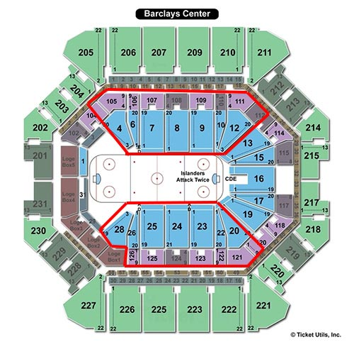New York Islanders - Plan de la Salle