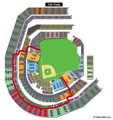 New York Mets - Citi Field Plan du Stade