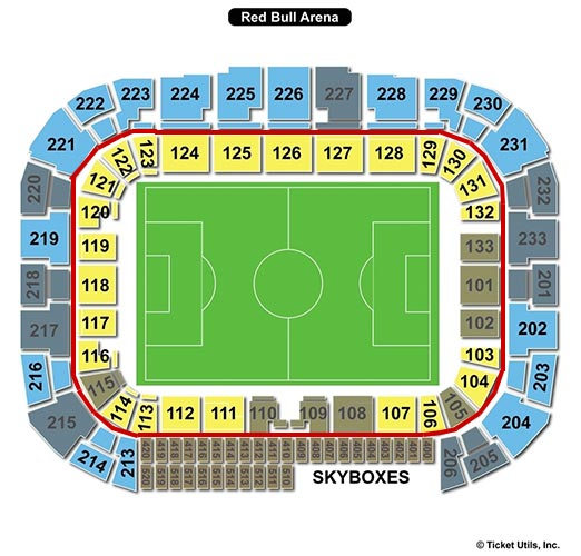 New York Red Bulls - Red Bull Arena Plan du Stade