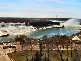 Niagara Falls en Avion - Cote americain