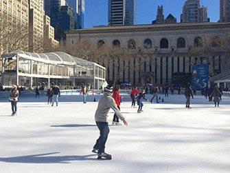 Patinoires à New York - Bryant Park