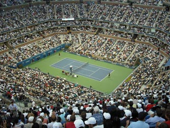 US Open Tennis à New York - Match de Tennis