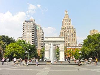 Visite guidée du cinéma et de la télévision à New York- Washington Square Park