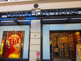 Maquillage à New York - Bath and Body Works