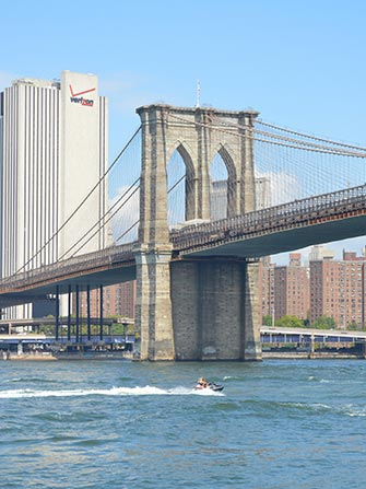 Faire du jet-ski à New York - Brooklyn Bridge