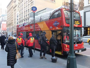 Bus touristique CitySightseeing à New York