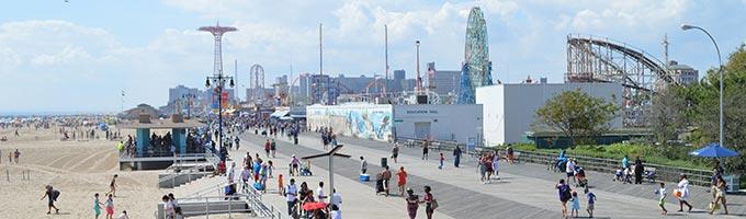Excursion en été : Coney Island