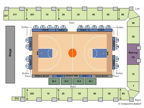Billets pour les New York Liberty Basketball - Plan du stade