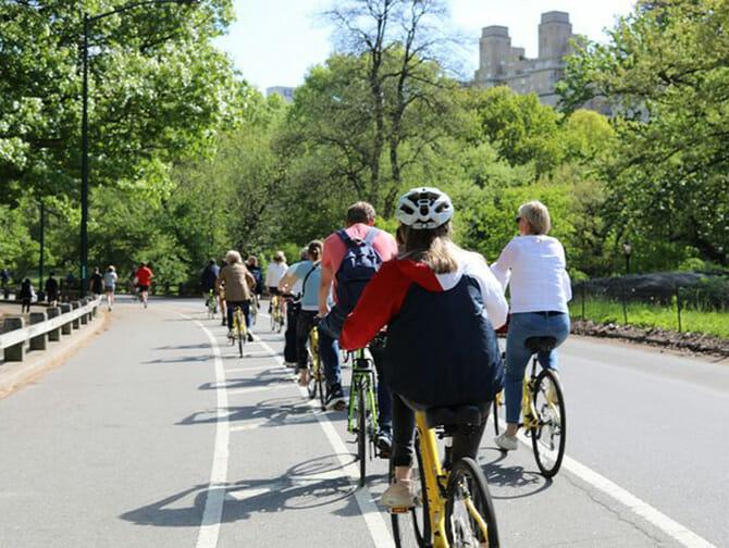 Visite guidée de Central Park à vélo avec guide français - Balade
